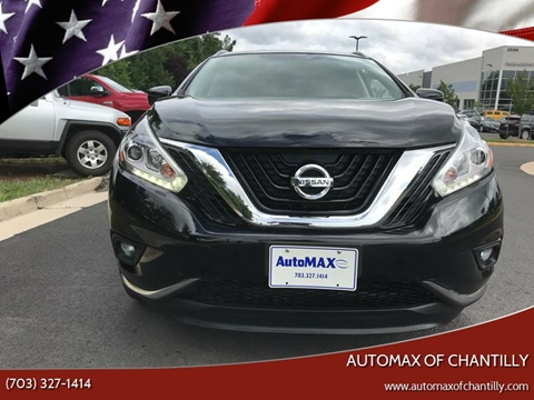 2017 Nissan Murano for sale at Automax of Chantilly in Chantilly VA