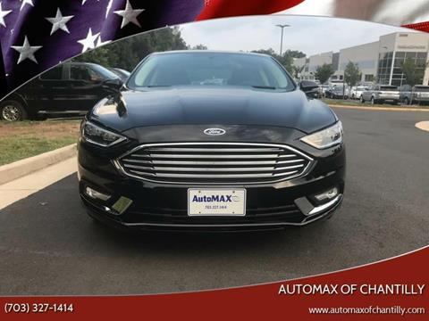2018 Ford Fusion for sale at Automax of Chantilly in Chantilly VA