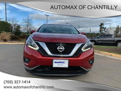 2018 Nissan Murano for sale at Automax of Chantilly in Chantilly VA