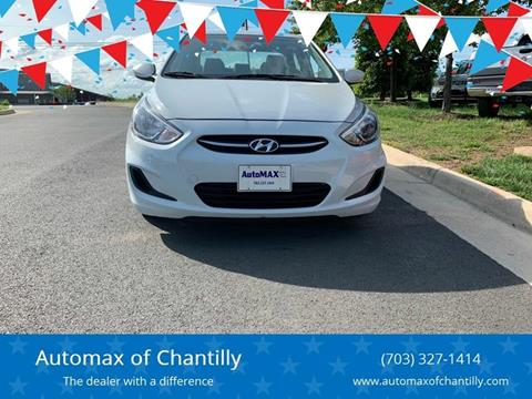 2017 Hyundai Accent for sale at Automax of Chantilly in Chantilly VA