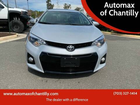2014 Toyota Corolla for sale at Automax of Chantilly in Chantilly VA