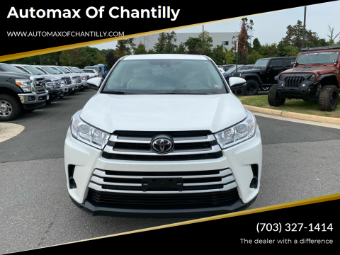 2019 Toyota Highlander for sale at Automax of Chantilly in Chantilly VA