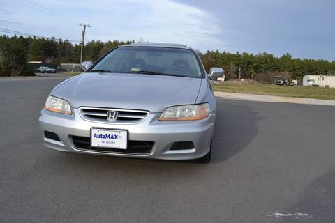 2002 Honda Accord for sale at Automax of Chantilly in Chantilly VA