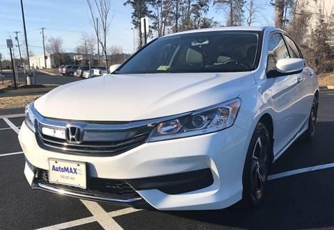 2017 Honda Accord for sale in Chantilly, VA
