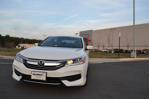 2017 Honda Accord for sale at Automax of Chantilly in Chantilly VA