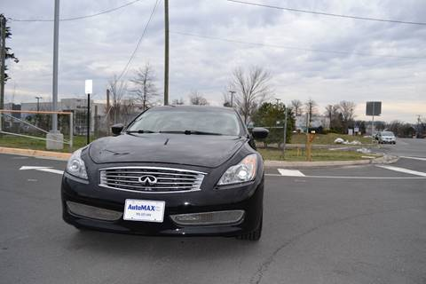 2010 Infiniti G37 Coupe for sale at Automax of Chantilly in Chantilly VA