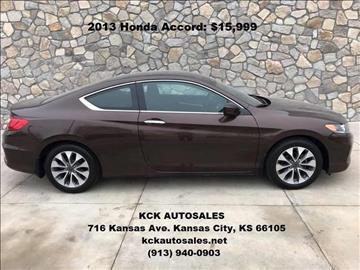 2013 Honda Accord for sale in Kansas City, KS