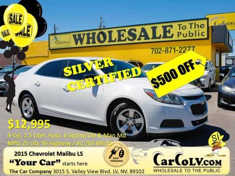 2015 Chevrolet Malibu for sale at The Car Company in Las Vegas NV