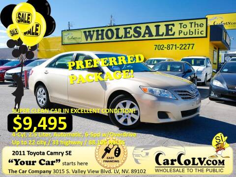 2011 Toyota Camry for sale at The Car Company in Las Vegas NV