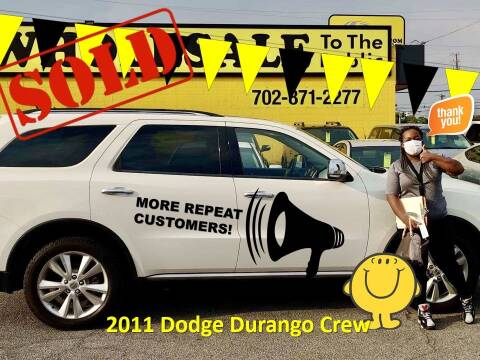 2011 Dodge Durango for sale at The Car Company in Las Vegas NV