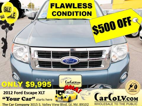 2012 Ford Escape for sale at The Car Company in Las Vegas NV