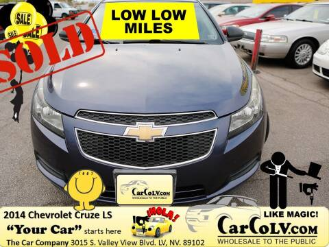 2014 Chevrolet Cruze for sale at The Car Company in Las Vegas NV