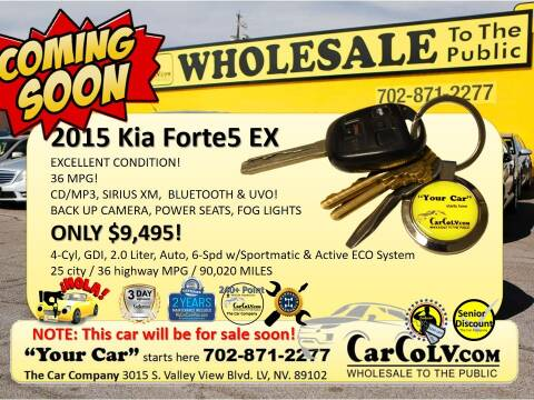 2015 Kia Forte5 for sale at The Car Company in Las Vegas NV