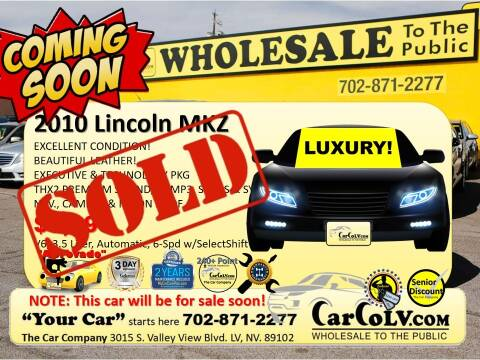2010 Lincoln MKZ for sale at The Car Company in Las Vegas NV