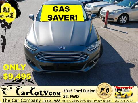 2013 Ford Fusion for sale at The Car Company in Las Vegas NV