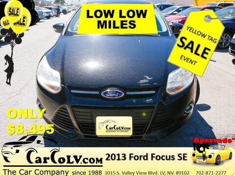 2013 Ford Focus for sale at The Car Company in Las Vegas NV