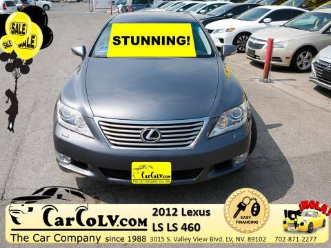2012 Lexus LS 460 for sale at The Car Company in Las Vegas NV