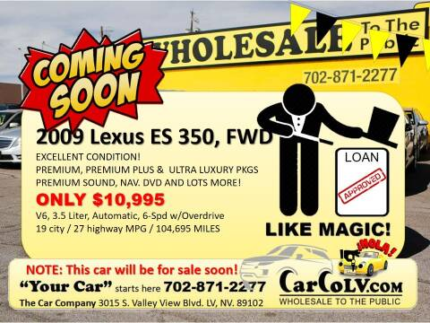 2009 Lexus ES 350 for sale at The Car Company in Las Vegas NV