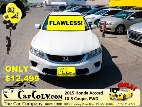 2015 Honda Accord for sale at The Car Company in Las Vegas NV