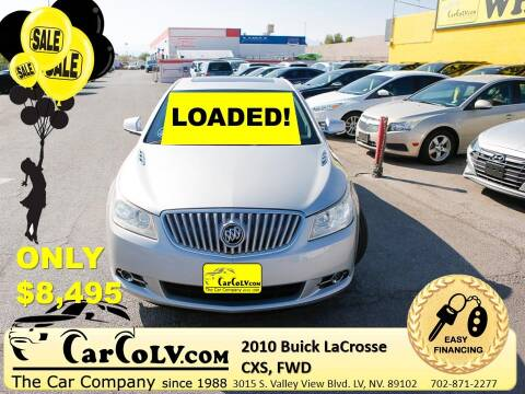 2010 Buick LaCrosse for sale at The Car Company in Las Vegas NV