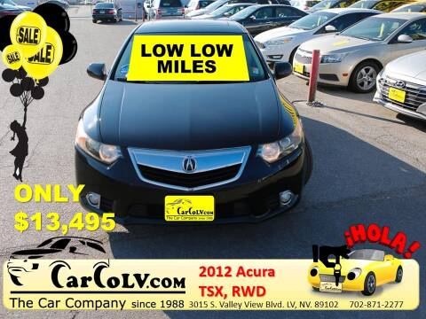2012 Acura TSX for sale at The Car Company in Las Vegas NV