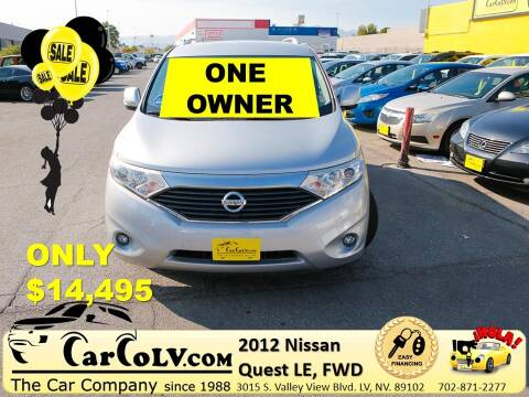 2012 Nissan Quest for sale at The Car Company in Las Vegas NV