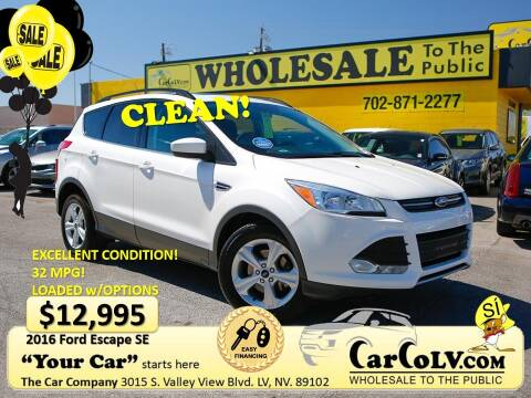 2016 Ford Escape for sale at The Car Company in Las Vegas NV