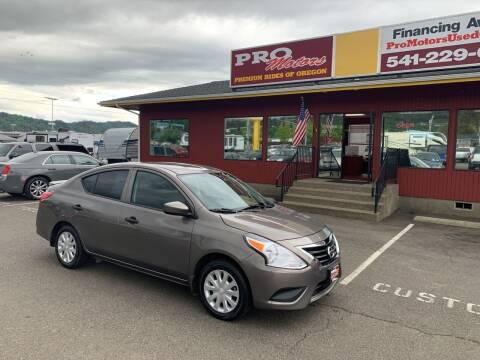 2017 Nissan Versa for sale at Pro Motors in Roseburg OR