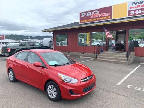 2016 Hyundai Accent for sale at Pro Motors in Roseburg OR