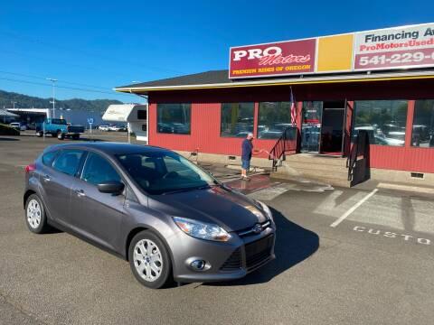 2012 Ford Focus for sale at Pro Motors in Roseburg OR