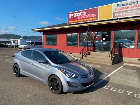 2016 Hyundai Elantra for sale at Pro Motors in Roseburg OR