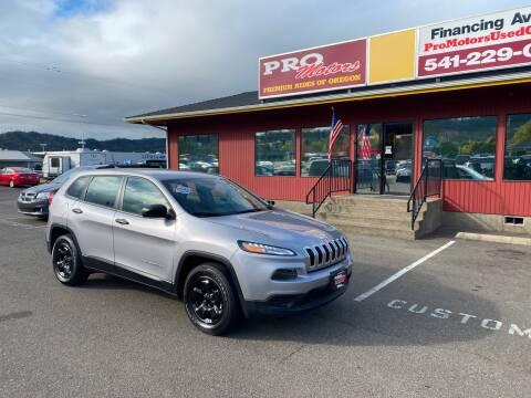 2017 Jeep Cherokee for sale at Pro Motors in Roseburg OR
