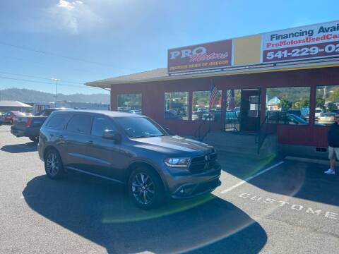 2016 Dodge Durango for sale at Pro Motors in Roseburg OR