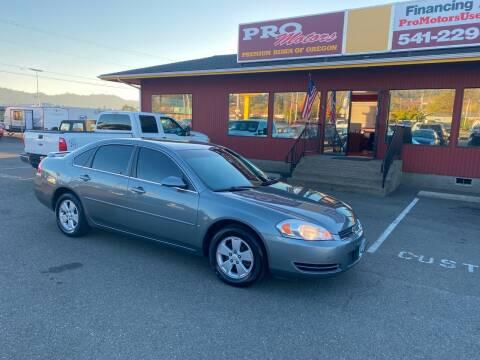 2007 Chevrolet Impala for sale at Pro Motors in Roseburg OR