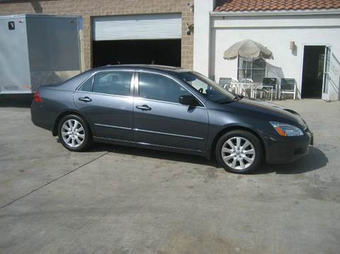 2007 Honda Accord for sale at HIGH-LINE MOTOR SPORTS in Brea CA