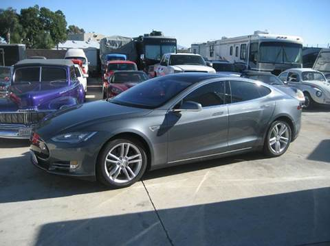 2013 Tesla Model S for sale at HIGH-LINE MOTOR SPORTS in Brea CA