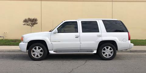 2000 Cadillac Escalade for sale at HIGH-LINE MOTOR SPORTS in Brea CA