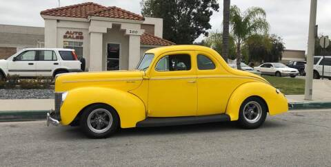 1940 Ford Deluxe Business Coupe for sale at HIGH-LINE MOTOR SPORTS in Brea CA