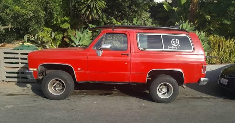 1985 Chevrolet Blazer for sale at HIGH-LINE MOTOR SPORTS in Brea CA