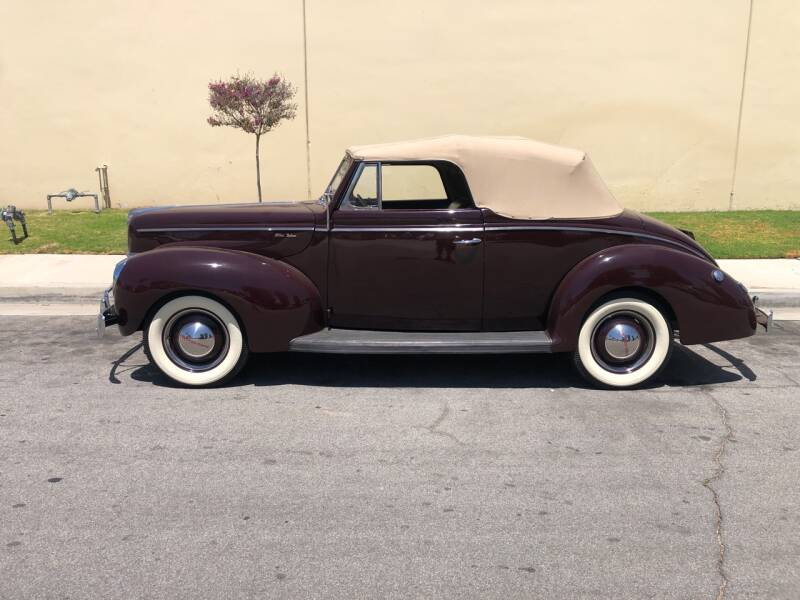 1940 Ford Deluxe Convertible for sale at HIGH-LINE MOTOR SPORTS in Brea CA