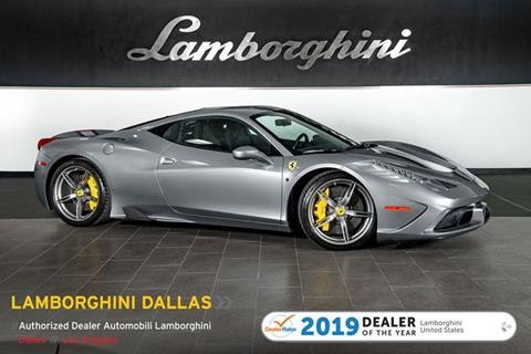 2015 Ferrari 458 Speciale >> 2015 Ferrari 458 Speciale For Sale In Richardson Tx