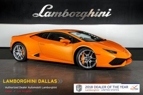 2015 Lamborghini Huracan LP 610-4 for sale at Lamborghini Dallas in Richardson TX