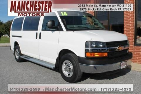 2016 Chevrolet Express Passenger for sale in Manchester, MD