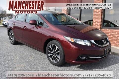 2013 Honda Civic EX-L for sale at MANCHESTER MOTORS in Manchester MD
