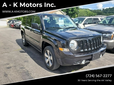 2016 Jeep Patriot for sale at A - K Motors Inc. in Vandergrift PA