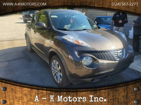 2011 Nissan JUKE for sale at A - K Motors Inc. in Vandergrift PA