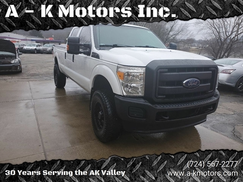 2015 Ford F-350 Super Duty for sale at A - K Motors Inc. in Vandergrift PA