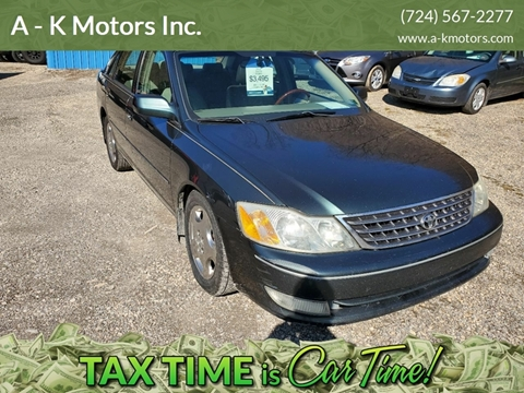 2003 Toyota Avalon for sale at A - K Motors Inc. in Vandergrift PA