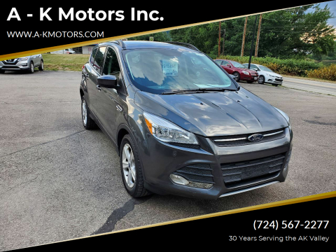 2015 Ford Escape for sale at A - K Motors Inc. in Vandergrift PA