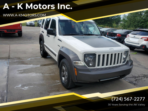 2010 Jeep Liberty for sale at A - K Motors Inc. in Vandergrift PA